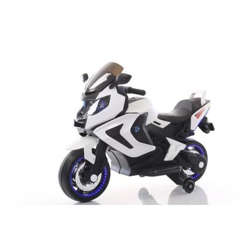 Эл-мобиль T-7229 WHITE мотоцикл 2*6V4.5AH мотор 2*15W 120*50*75 /1/