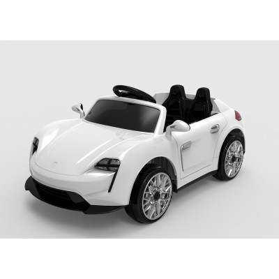 Эл-мобиль FL1718 EVA WHITE легковая на Bluetooth 2.4G Р/У 2*6V4.5AH мотор 2*25W 110*57*49 /1/