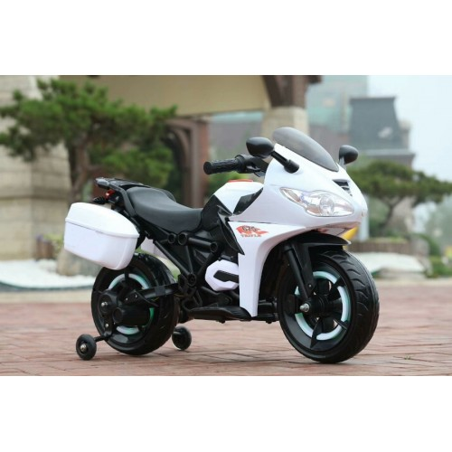 Эл-мобиль T-7221 WHITE мотоцикл 12V4.5AH мотор 2*14W 110*56*70 /1/