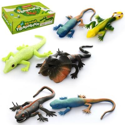 Животное A160-DB (144шт) ящерица, 27см, 36шт(6видов) в дисплее, 32-9,5-18,5см