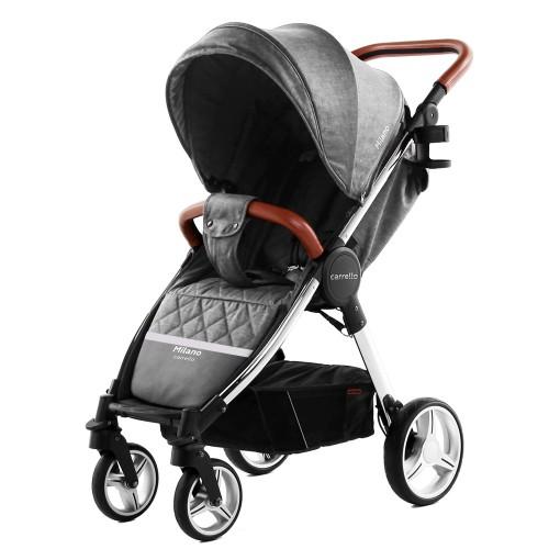 Коляска прогулочная CARRELLO Milano CRL-5501 Carbon Grey +дождевик L /1/ MOQ
