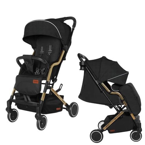Коляска прогулочная CARRELLO Smart CRL-5504 Night Black +дождевик S/1/