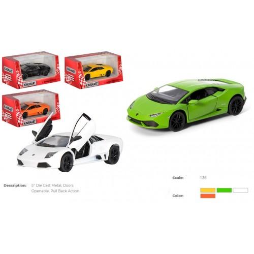 Модель легкова 5' KT5382W Lamborghini Huracan LP610-4-WB метал.інерц.відкр.дв.4кол.кор./96/