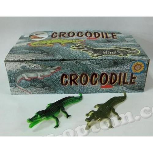 """09582 Крокодил Гонконг H9708W 7 резин.с пищалкой 2 в.36 шт.в кор./432/"""""""