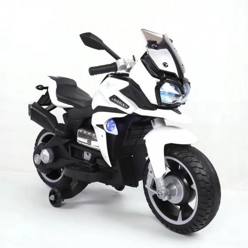 Эл-мобиль T-7227 WHITE мотоцикл 6V7AH мотор 1*18W с USB 97*65,3*53 /1/