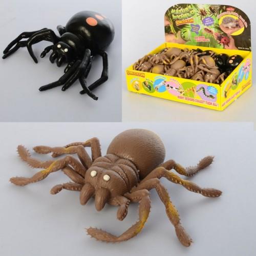Насекомое A114-PDQ (144шт) паук, 9см, 36шт(2вида) в дисплее, 29-19-10,5см