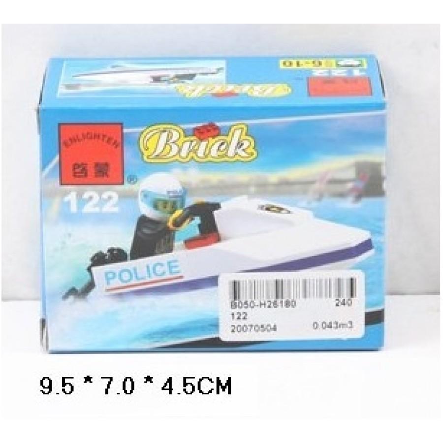 Конструктор BRICK 122 лодка 38дет.распак.кор.9,5*4,5*7 ш.к./240/