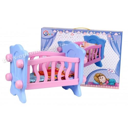 """4166 Игрушка """"Кроватка для куклы """""""