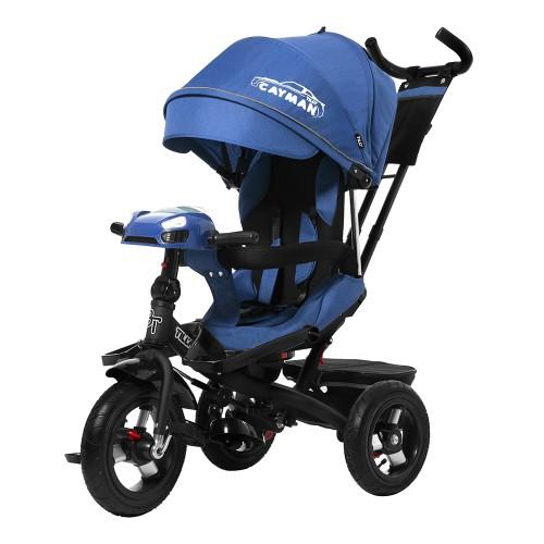Велосипед трехколесный TILLY CAYMAN с пультом и усиленной рамой T-381/2 Синий лен /1/