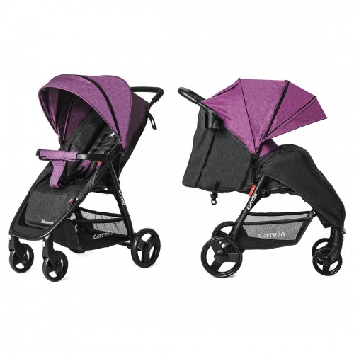 Коляска прогулочная CARRELLO Maestro CRL-1414/1 Purple Iris в льне +дождевик L /1/ MOQ