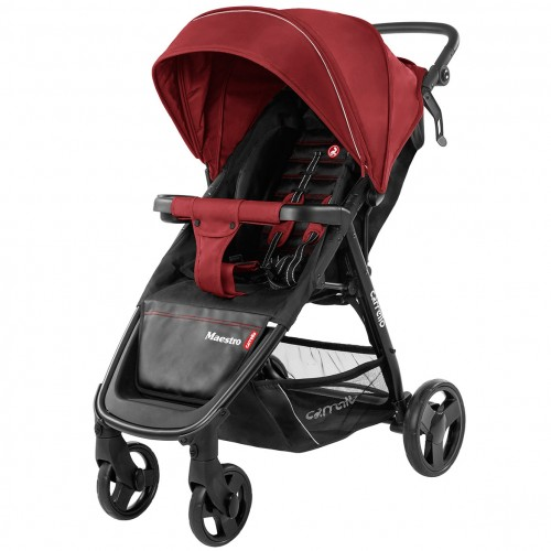 Коляска прогулочная CARRELLO Maestro CRL-1414 Tango Red +дождевик L /1/ MOQ