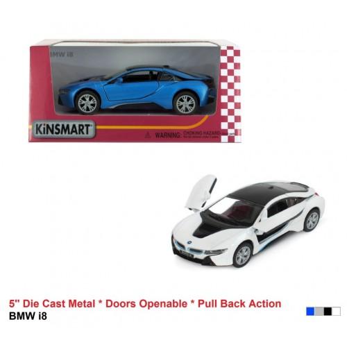 Модель легкова 5'' KT5379W BMW i8 метал.інерц.відкр.дв.4кол.кор./96/