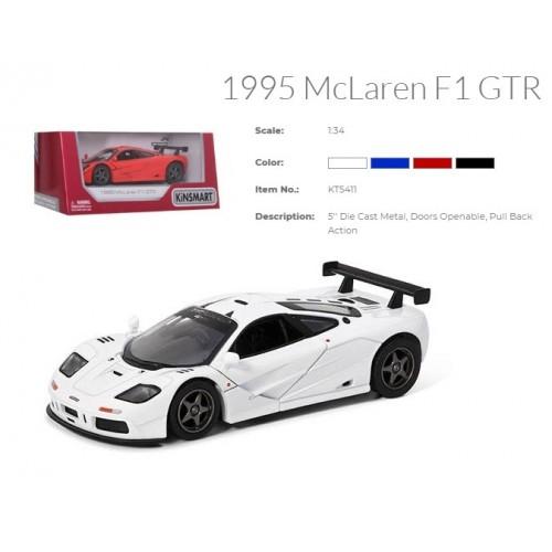 Модель легкова 5'' KT5411W 1995 McLaren F1 GTR метал.інерц.відкр.дв.4кол.кор./96/