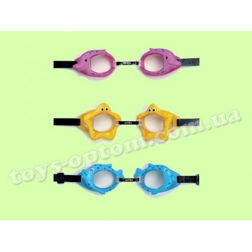 55603 06282 очки для плавания 3-10 лет 3цв./12/