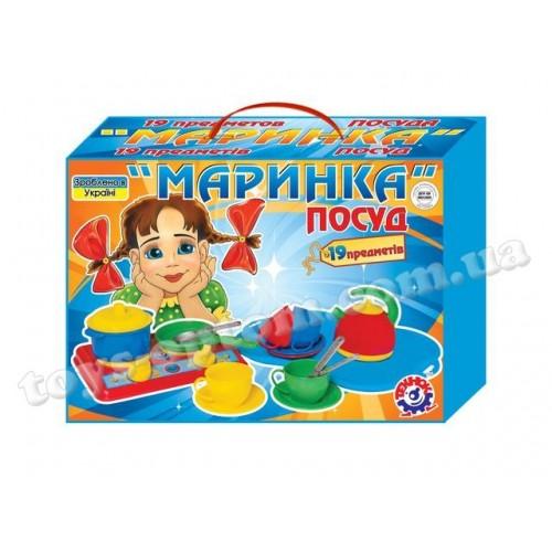 """1554 Посуда """"Маринка ТехноК"""" в картонной коробке"""