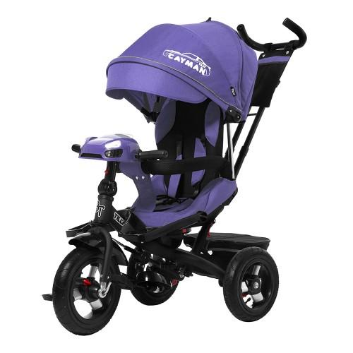 Велосипед трехколесный TILLY CAYMAN с пультом и усиленной рамой T-381/2 Фиолетовый лен /1/