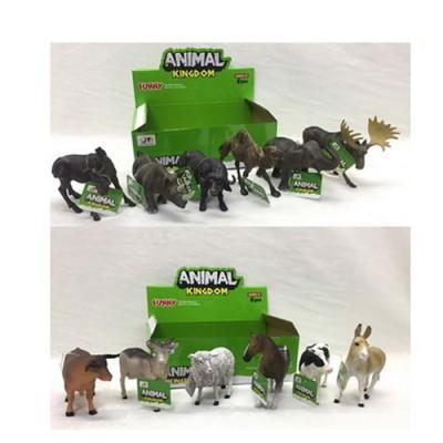 Животные 16098BD (288шт) от 11см, 2 вида(дикие, домашние), 6шт(6видов) в дисплее, 23-8-14см