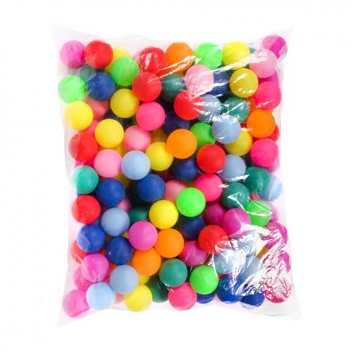Тенісний м'ячик BT-PPS-0033Ц кольоровий 40мм, 140шт в пакеті, 10 пакетів /1400/