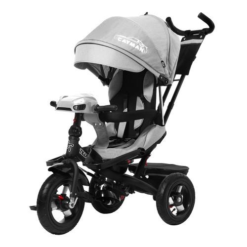 Велосипед трехколесный TILLY CAYMAN с пультом и усиленной рамой T-381/2 Серый лен /1/