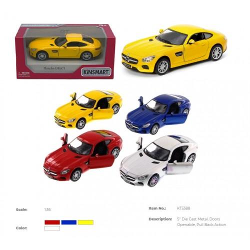 Модель легкова 5'' KT5388W Mercedes-AMG GT метал.інерц.відкр.дв.4кол.кор./96/