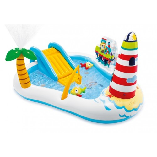 """57162 ігровий центр """"Весела рибалка"""" з гіркою, фонтаном, іграшками та м'ячами 218*188*99см /2/"""