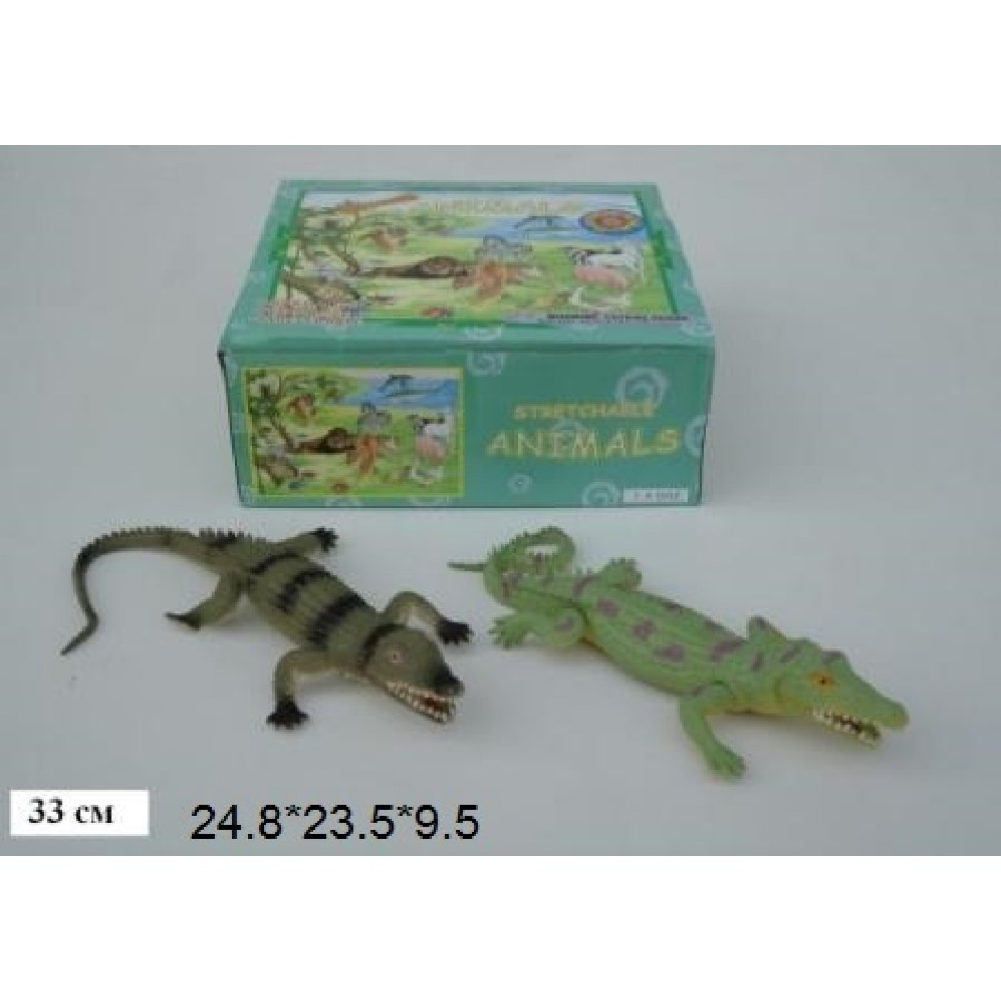 """Крокодил Гонконг A022P тягнучка 13"""" 2в.18шт.в кор.25*9,5*23,5 /12/216/"""