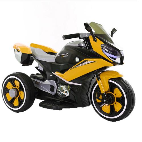 Эл-мобиль T-7228 YELLOW мотоцикл 6V7AH мотор 2*20W с MP3, USB 108*71*55 /1/
