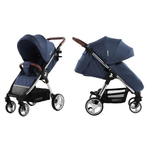 Коляска прогулочная CARRELLO Milano CRL-5501 Velvet Blue +дождевик L /1/ MOQ
