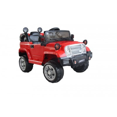Эл-мобиль T-7838 RED джип на Bluetooth 2.4G Р/У 2*6V4.5AH мотор 2*20W с MP3 118*62*50 /1/