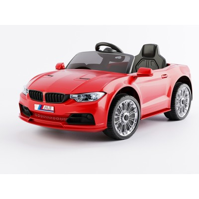 Эл-мобиль T-7633 EVA RED легковая на Bluetooth 2.4G Р/У 12V4.5AH мотор 2*15W с MP3 кол. 110*67*46 /1