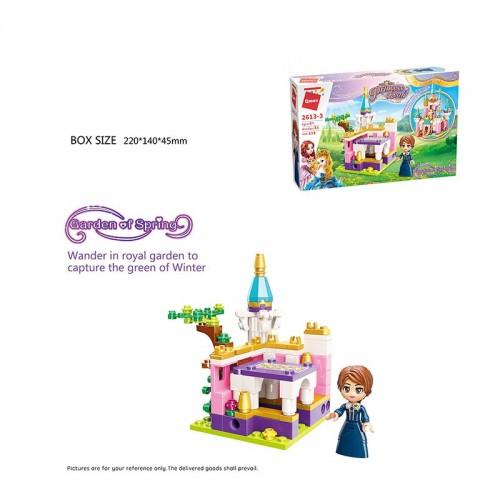 Конструктор BRICK 2613-3 Princess Leah Garden of spring 118дет.спак.кор.22*4,5*14 /64/