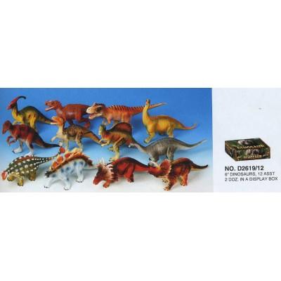 Динозавр Гонконг D2619 гум. 6-7'' 12в.24шт.в кор./12/288/