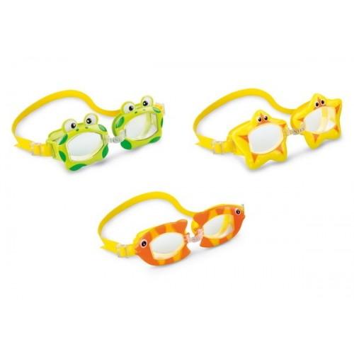 55603 очки для плавания 3-10 лет 3цв./12/